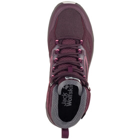 Jack Wolfskin Downhill Texapore Middelhoge Schoenen Dames, burgundy/pink